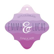 Ruffled Ombre fancy diamond hang tags