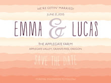 custom save-the-date cards - peach - ruffled ombre (set of 10)