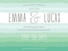 custom save-the-date cards - kelly green - ruffled ombre (set of 10)