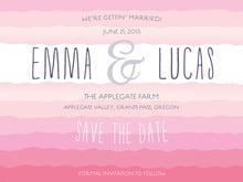 custom save-the-date cards - bright pink - ruffled ombre (set of 10)