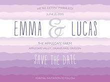 custom save-the-date cards - radiant orchid - ruffled ombre (set of 10)