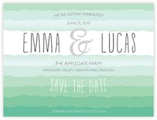 Ruffled Ombre save the date cards