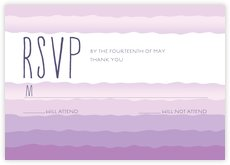 Ruffled Ombre response cards