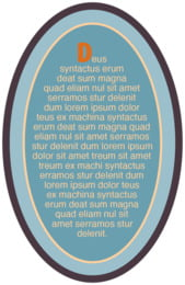 Regensburger oval text labels