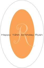 Riva tall oval labels