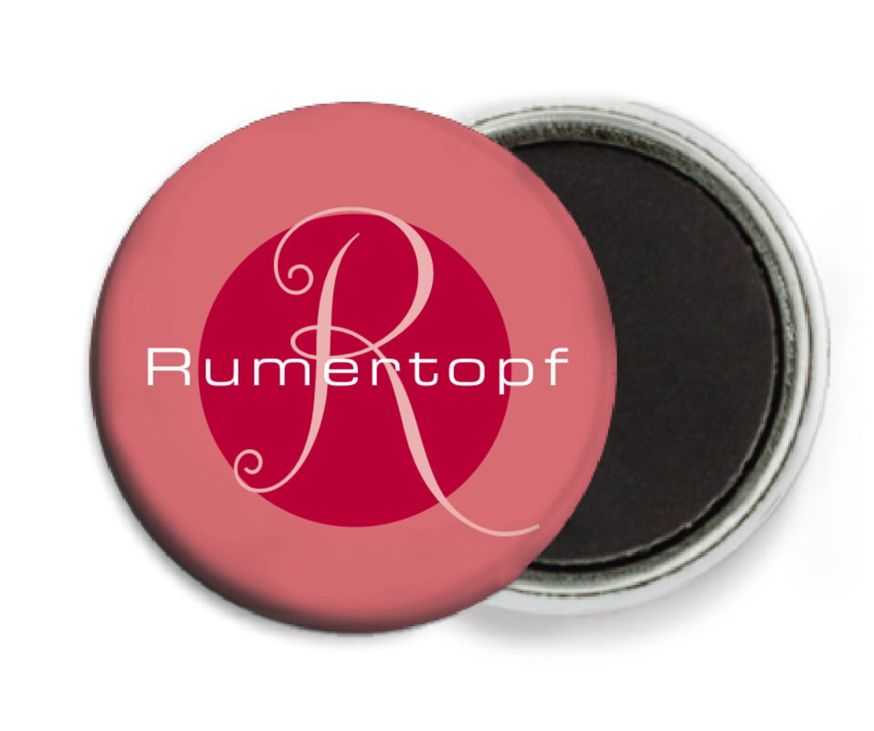 custom button magnets - deep red - riva (set of 6)