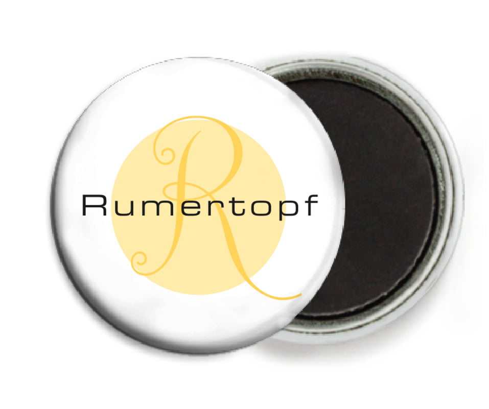 custom button magnets - sunburst - riva (set of 6)