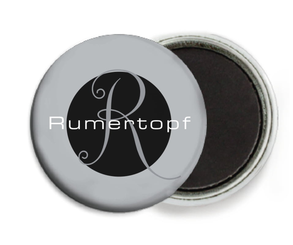 custom button magnets - tuxedo - riva (set of 6)