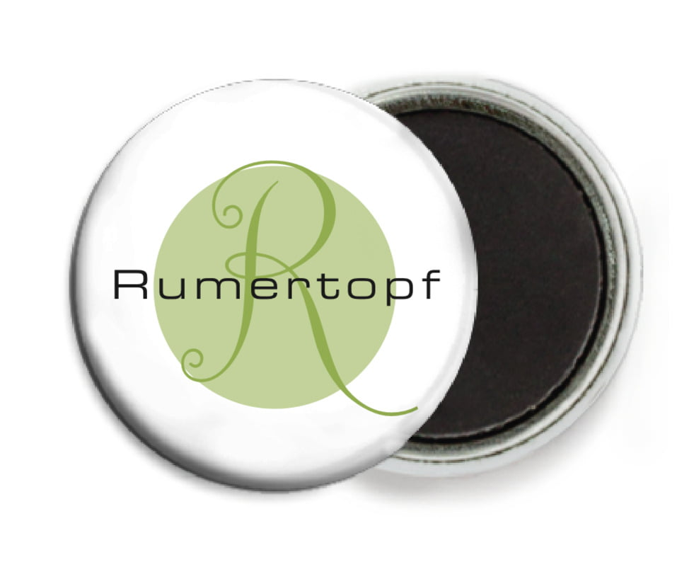 custom button magnets - green tea - riva (set of 6)