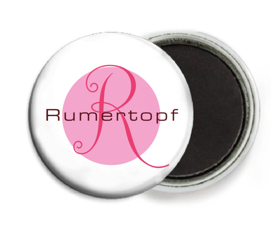 custom button magnets - pale pink - riva (set of 6)