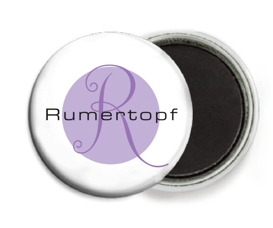 custom button magnets - lilac - riva (set of 6)