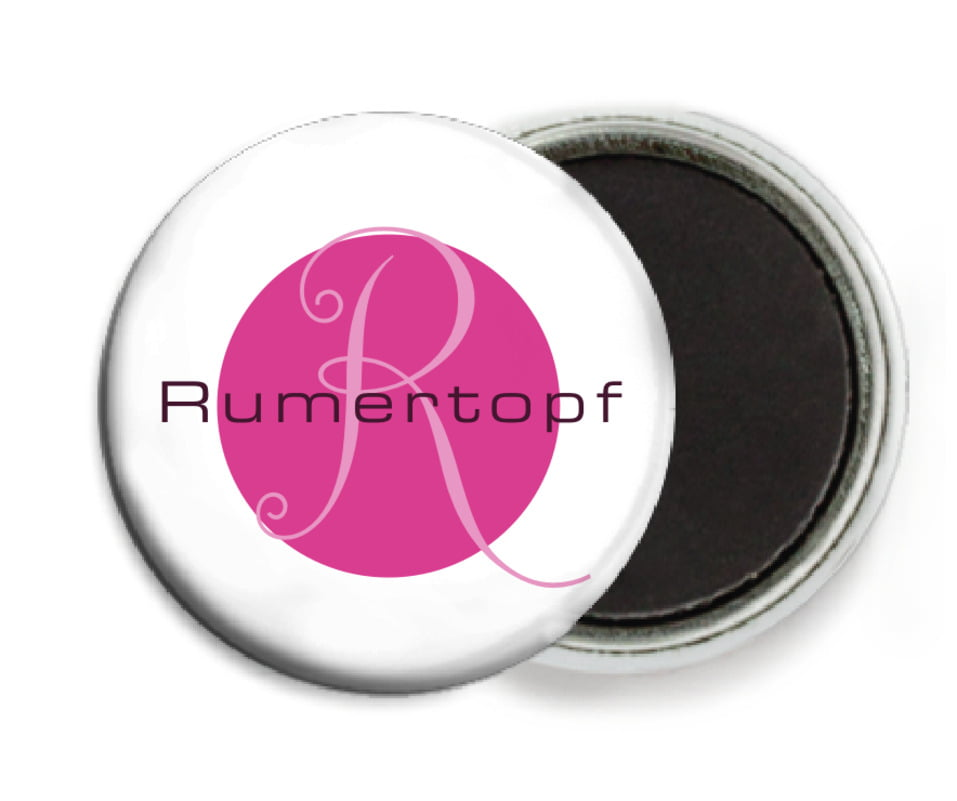 custom button magnets - bright pink - riva (set of 6)
