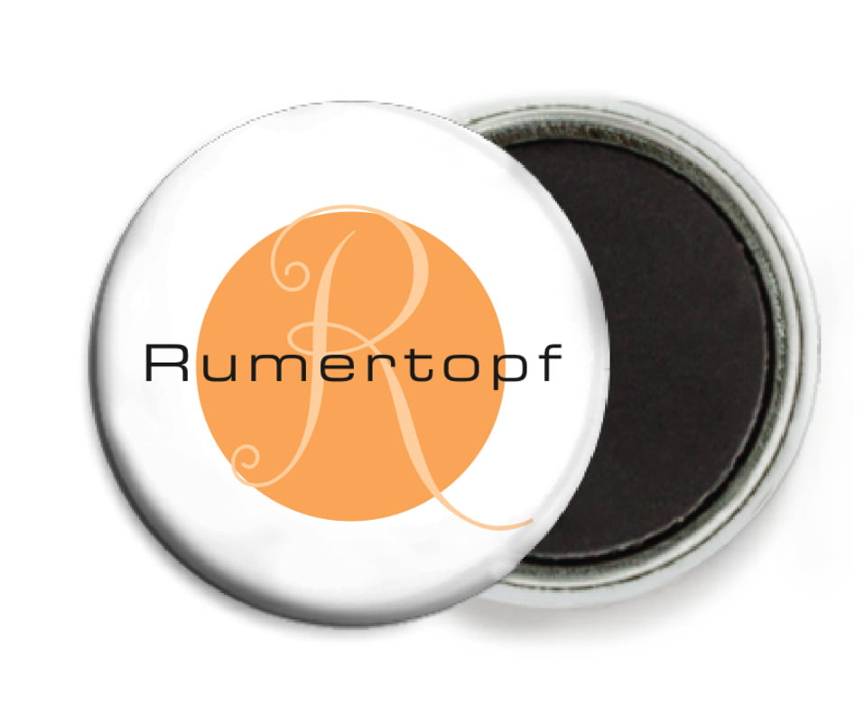 custom button magnets - tangerine - riva (set of 6)