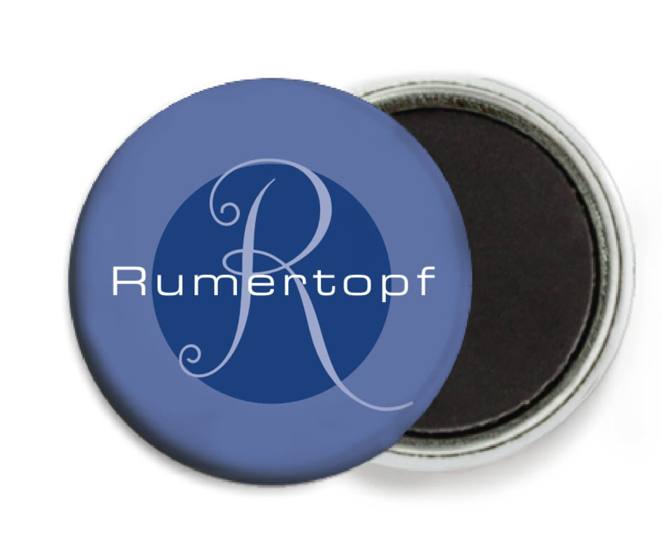 custom button magnets - deep blue - riva (set of 6)