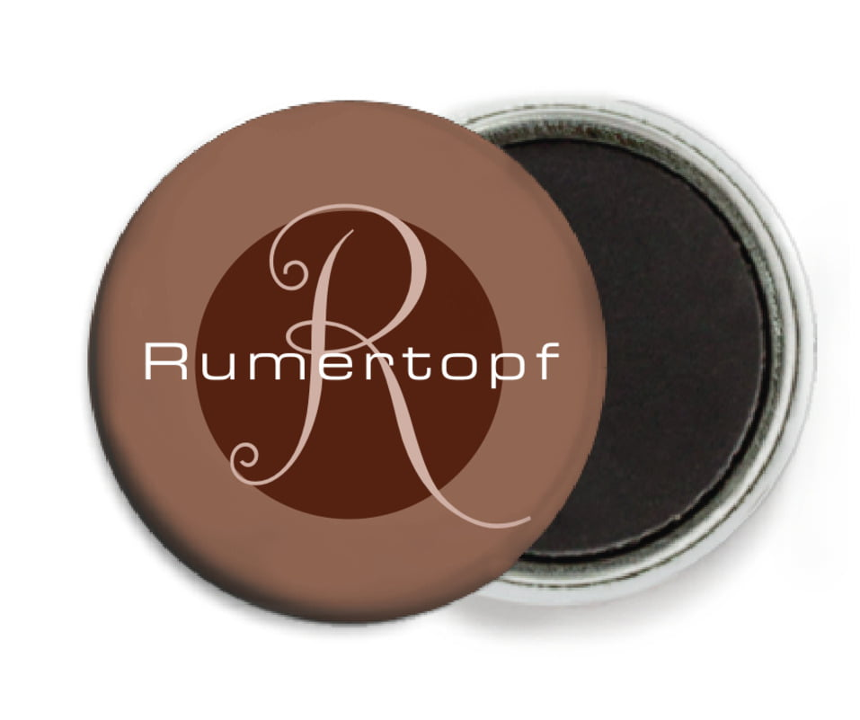 custom button magnets - chocolate - riva (set of 6)