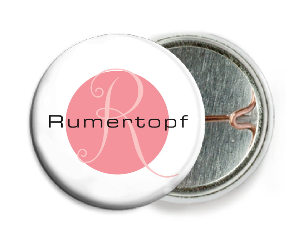 custom pin back buttons - grapefruit - riva (set of 6)