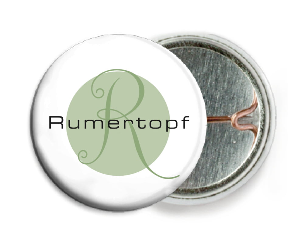 custom pin back buttons - sage - riva (set of 6)