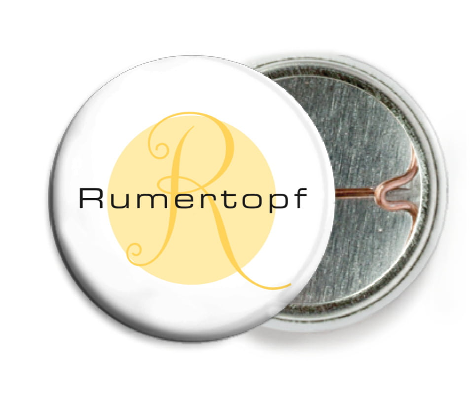 custom pin back buttons - sunburst - riva (set of 6)