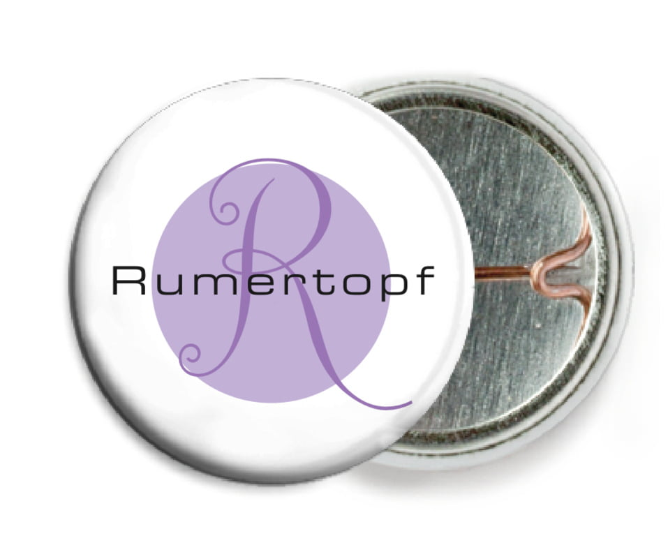 custom pin back buttons - lilac - riva (set of 6)