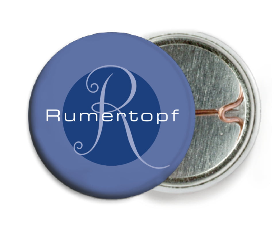custom pin back buttons - deep blue - riva (set of 6)