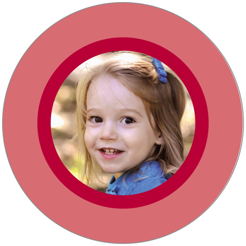 circle photo labels - deep red - riva (set of 20)