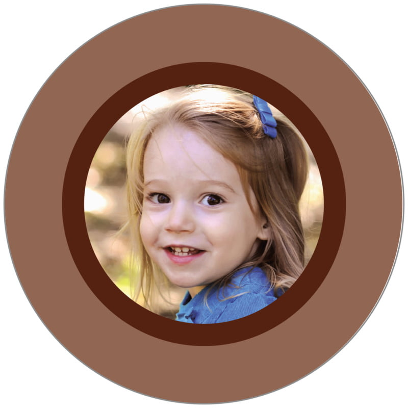 circle photo labels - chocolate - riva (set of 20)