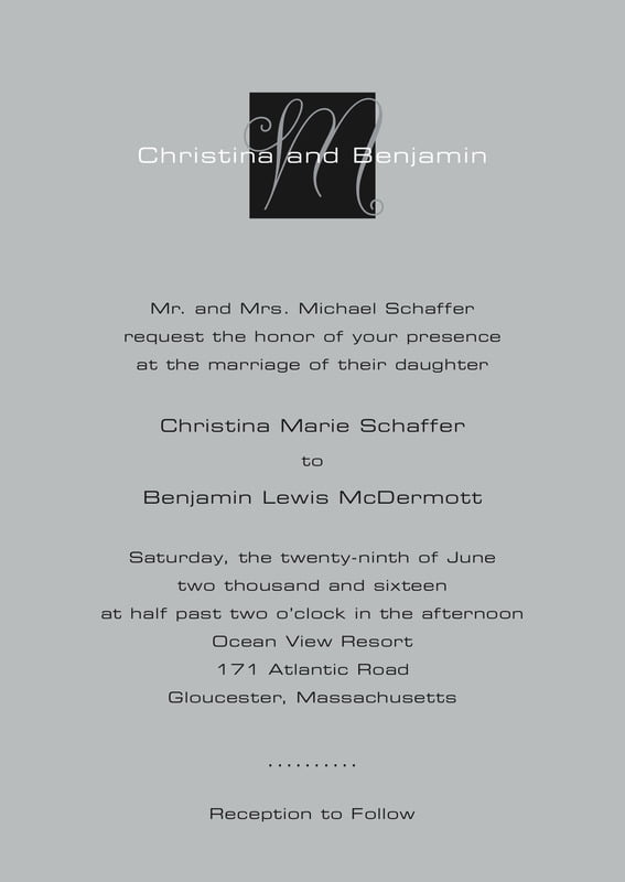 custom invitations - tuxedo - riva (set of 10)
