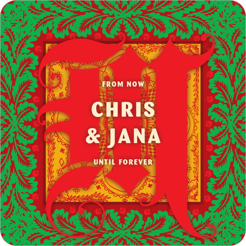 square holiday coasters - red - raj (set of 12)