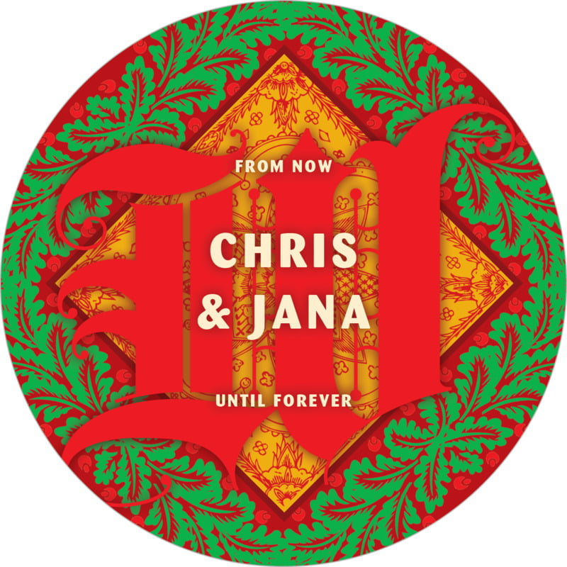 round holiday coasters - red - raj (set of 12)