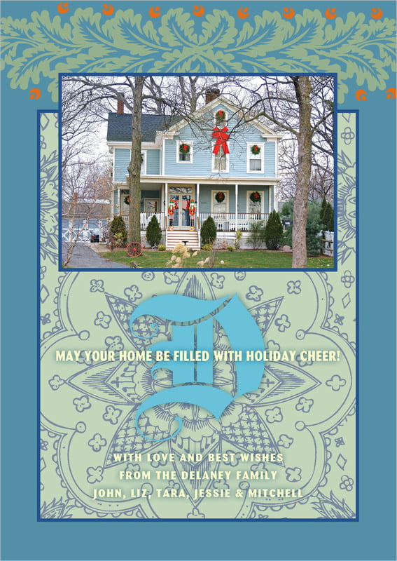 holiday cards - soft blue - raj (set of 10)