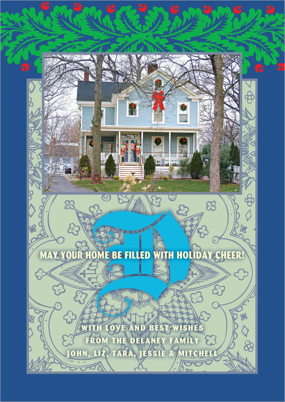holiday cards - blue - raj (set of 10)