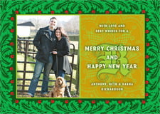 holiday cards - green - raj (set of 10)