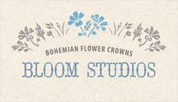 Rustic Blooms business cards