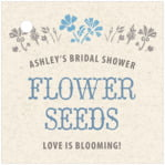 Rustic Blooms square hang tags