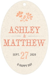 Rustic Blooms large oval hang tags