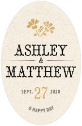 Rustic Blooms tall oval labels