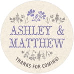 Rustic Blooms circle labels