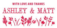 Rustic Blooms Large Designer Stamp In Red