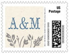 Rustic Blooms wedding postage stamps