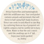 Rustic Blooms circle text label