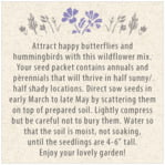 Rustic Blooms square text labels