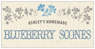 Rustic Blooms rectangle labels
