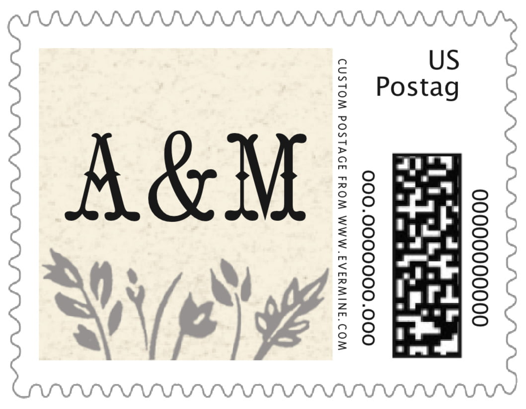 small custom postage stamps - tuxedo - rustic blooms (set of 20)