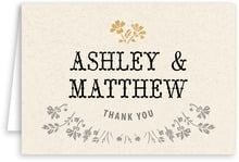 Rustic Blooms folding cards