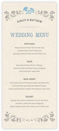 Rustic Blooms Menu In Blue