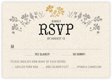 Rustic Blooms response cards