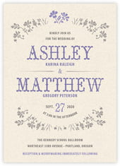 Rustic Blooms invitations