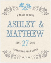 Rustic Blooms wine labels