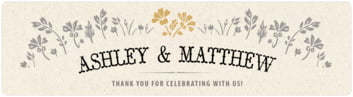 Rustic Blooms bottled water labels
