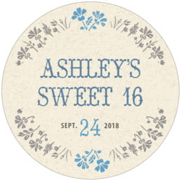 Rustic Blooms round coasters